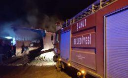 Şuhut'ta tandır yangını