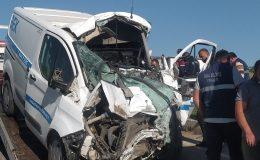 Uşak'ta zincirleme trafik kazası; 1'i ağır 4 yaralı