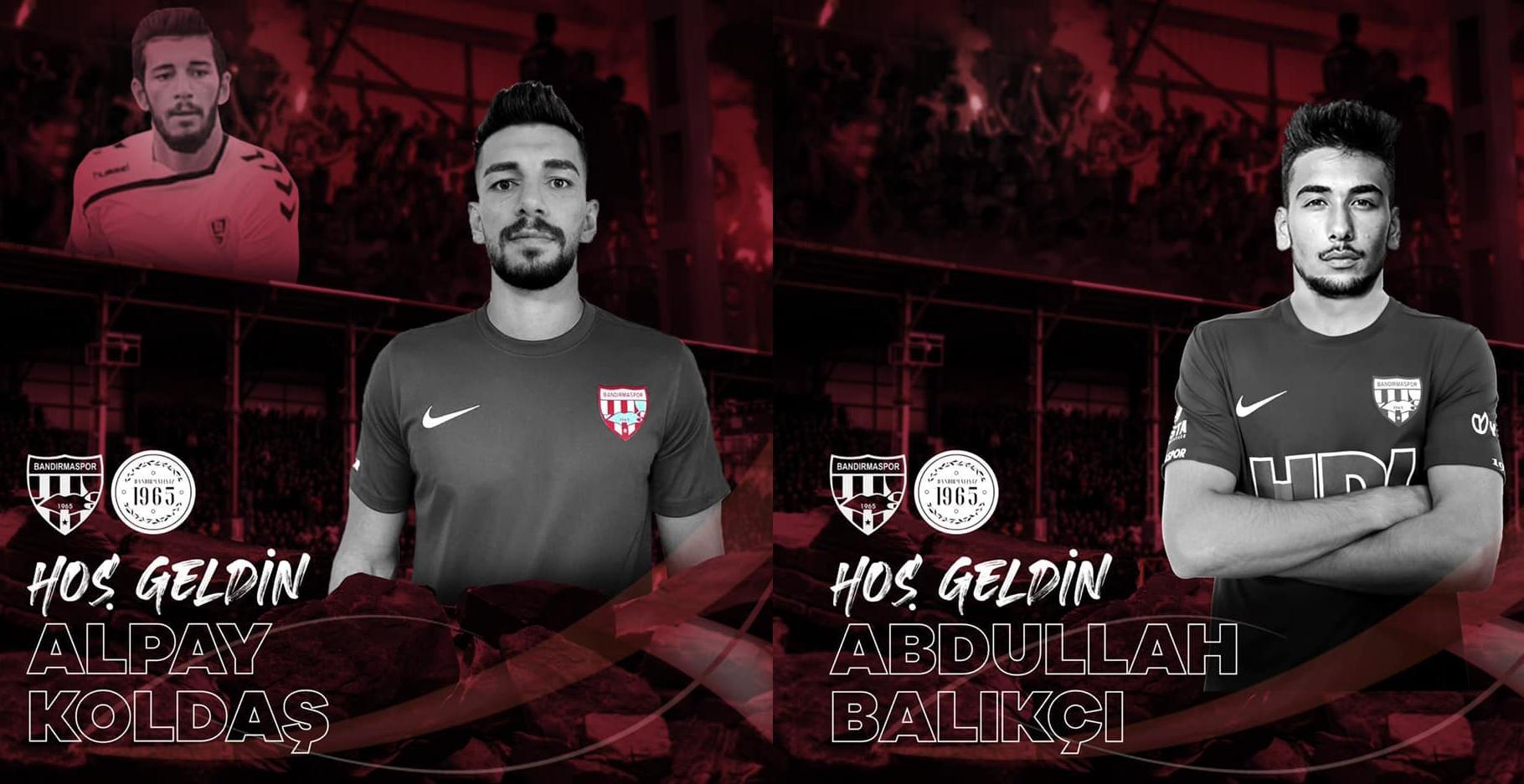 Bandırmaspor, Uşaksporlu iki orta saha oyuncusunu renklerine 2'şer yıllık anlaşma ile bağladı.